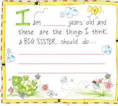I love this for K- it would be a gift she can treasure always! Wow! I'm a Big Sister Keepsake Album by Penny Laine