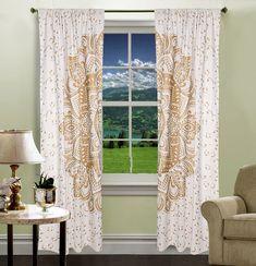 Washcloths – Window Decoration Mandala Tapestry Boho Curtains – a unique product by IndianCraftPalace on DaWanda