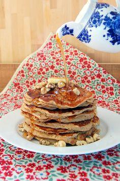 Banana Bread Pancakes with Spelt Flour