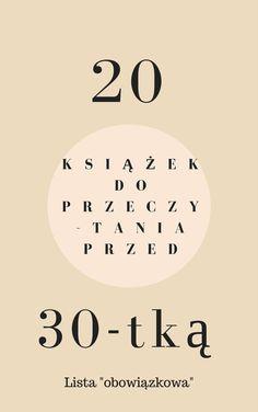 20 książek do przeczytania przed 30-tką