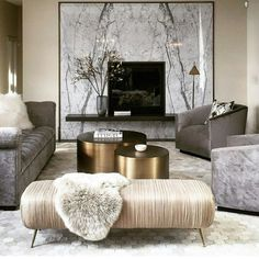 Interior Design Tips For Chic Small Living Rooms - haus.decordiyhome 7 Must Do Interior Design Tips For Chic Small Living Rooms ➤ Discover the season's newest designs an Design Living Room, Living Room Color Schemes, Living Room Interior, Colour Schemes, Living Room Decor Gold, Cream And Gold Living Room, Champagne Living Room, Grey Living Room With Color, Living Room Accessories