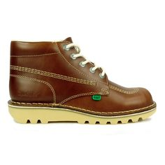 Mens Kickers Boots Kick Hi Leather Dark Tan Boots @ www.menswearshop.co.uk