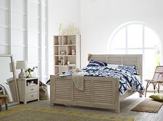 Ocean Grove Louvre Queen Bed Frame main product image 1