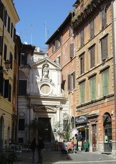 Small Square in Rome, Italy