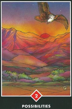 """The """"Possibilities"""" card is from the OSHO Zen Tarot deck. It was drawn to help answer a question from a skeptic by encouraging them to be open to possibilities."""