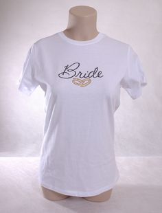 acabf28afc3e Bride Ladies T with rings. Available in many color shirts and stones. shell