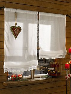 Romantic hut in the mountains: curtains - living & garden  #curtains #garden #living #mountains #romantic