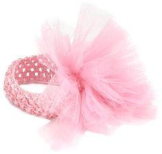 Amazon.com: Mud Pie Newborn Baby-Girls Tulle Puff Headband, Pink, 0-12 Months: Clothing