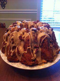 Apple Cream Cheese Bunt Cake