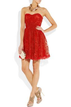 Issa : lace strapless dress @ net-a-porter
