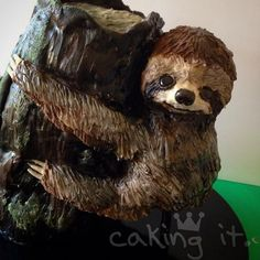 Sloth Cake - Cake by Caking it.
