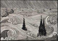 xilogravura de René Quillivic