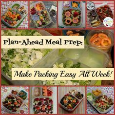 Prep Once, Pack Easy Lunches All Week! - Guest Post by Biting the Hand That Feeds You