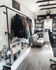 Need ideas for organizing and getting more storage in your tiny home? Check out these 16 tiny home organization ideas and storage tips! Tiny House Closet, Tiny House Storage, Small Closet Organization, Organization Ideas, Building A Tiny House, Stair Storage, Rv Storage, Extra Storage, Small Closets