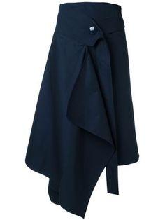 Marni loose wrap skirt