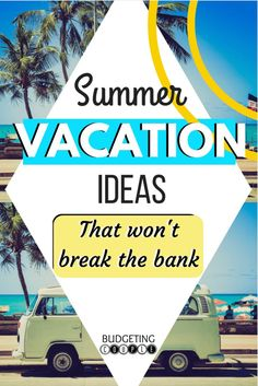 Need summer travel ideas but you're on a budget? Check out this list of vacations you can take this summer that won't break the bank! Free Vacations, Vacation Trips, Vacation Spots, Family Vacations, Family Summer Vacation Ideas, Vacation Destinations, Vacation Savings, Affordable Vacations, Summer Vacations