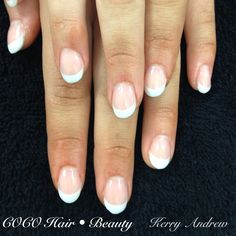 Sculptured Acrylic French Round Nails
