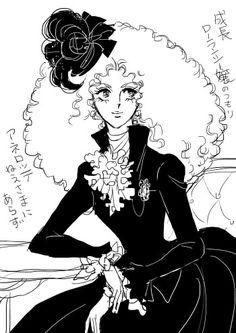 Grown up Mme. Lelou de la Laurent Lady Oscar, Cartoon Tattoos, Baby Drawing, Cute Art Styles, Coloring Book Pages, Manga Art, Artsy, Comics, Retro