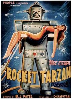 """Dedicated to all things """"geek retro:"""" the science fiction/fantasy/horror fandom of the past including pin up art, novel covers, pulp magazines, and comics. Vintage Robots, Retro Robot, Arte Sci Fi, Sci Fi Art, Science Fiction Art, Pulp Fiction, Robot Monster, Arte Robot, Bollywood Posters"""