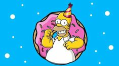 Simpsons Donut, Simpsons Party, Homer Simpson Donuts, Birthday Greetings Friend, Simpsons Drawings, Love Store, Purple Wallpaper Iphone, Party Decoration, Toy Story Birthday
