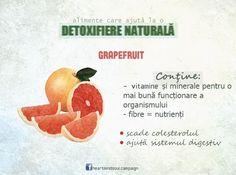 Detoxifiere naturală: grapefruit. #TomorrowIsNow #fruit #healthy #food #nutrition #grapefruit #campaign