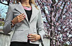 The Classy Cubicle: Day to Night: Bewitched by a Blazer. I love this jacket with this black dress!