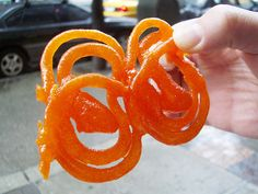 jalebi, an Indian sweet....Yummy !