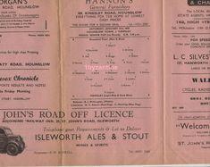 1950 Hounslow v Yiewsley Football Programme non League Middlesex senior cup Square Deal, Football Program, Programming, June, London, Ebay, Computer Programming, London England, Coding
