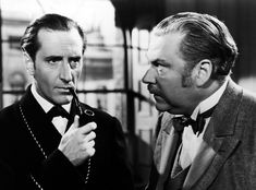 A series of fourteen US-produced films based on Sir Arthur Conan Doyle's Sherlock Holmes stories were released between 1939 and 1946. Basil Rathbone and Nigel Bruce played Holmes and Doctor Watson respectively. The first two films were produced by 20th Century Fox. The Hound of the Baskervilles in 1939 was originally intended as a one-off production. However, as the release met with critical success in the US, the studio followed it up the same year with The Adventures of Sherlock Holmes...