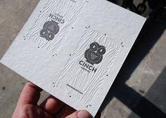 letterpress business cards...really sweet branding.