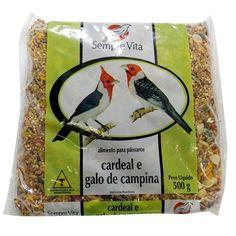 Ração Pássaros Cardeal e Galo de Campina Sempre Vita - Meuamigopet.com.br #asas #asa #animais #aves #passaros #meuamigopet