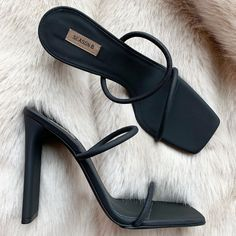 Yeezy Season 8 - graphite rubberized leather minimal sandal 110mm • Message or email me to purchase. Email on profile. Yeezy Season, Season 8, Pumps, Heels, Shapes, Shoe Bag, Womens Fashion, Bags, Instagram