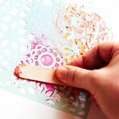 Heather Greenwood aka Scrap Happy Hippie: Mixed Media Tutorial: using Gelatos, Gel Medium and Stencils to alter a Project Life Journal Card