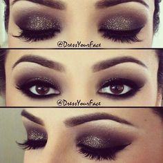 Love this look! Perfect for a party or night out. Brown smokey eyes for Brown eyes