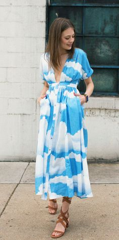 Mara Hoffman Clouds Kimono Gown & Brother Vellies Whiskey Bruna Sandal