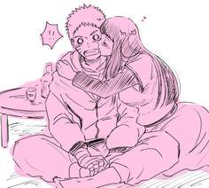 Naruto e Hinata (NaruHina) Naruhina, Hinata Hyuga, Naruto Uzumaki, Anime Naruto, Sarada E Boruto, Naruto Comic, Naruto Art, Naruto Couples, Anime Couples