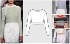 #FashionSnoops SS17 women's key styles and sketches on #WeConnectFashion: Sweaters / Knits - cropped, image 1