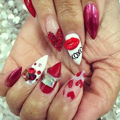 80 Best Valentine S Day Nails Images On Pinterest Pretty Nails