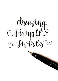 Basic Hand Lettering: Simple Swirls - One Artsy Mama