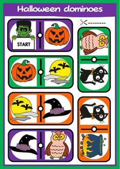 Halloween set - eslchallenge Halloween Vocabulary, Halloween Worksheets, Halloween Spells, Halloween Fun, English Teaching Resources, Halloween Treat Bags, Vocabulary Activities, Recording Sheets, Halloween Coloring