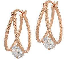 Set of three faux-pearl embellished hoop earrings Saint Laurent zCMGv