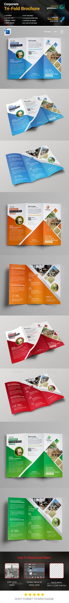 Law Firm Tri Fold Leaflet Brochure Template  More Brochure