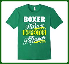 Mens Boxer by Passion Inspector by Profession T Shirt Small Kelly Green - Careers professions shirts (*Amazon Partner-Link)