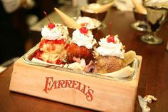 According to Nancy Luna over at The Orange County Register, the much-beloved Farrell's Ice Cream Parlour is set to debut a second location in OC: Brea! Farrell's Ice Cream, Ice Cream Parlor, Best Ice Cream, Sweet Memories, Childhood Memories, School Memories, Swedish Fish, Banana Split, Candy Store