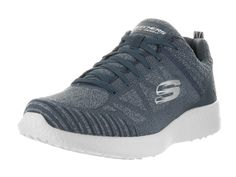 Skechers Men's Burst - Deal Closer Extra Wide Navy/Gray Running Shoe 11 3E Men