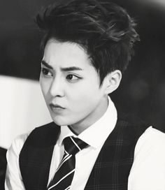 Image result for xiumin black hair