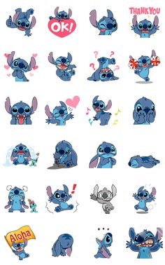 Stitch now has his own set of trouble-making animated stickers! Send them off to friends today and lighten up your chats Stitch-style!