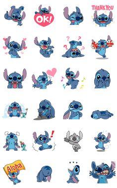 Stich, el travieso alienígena querido por todos, llega con sus stickers animados llenos de energía. ¡Alborota tus chats al estilo Stitch!