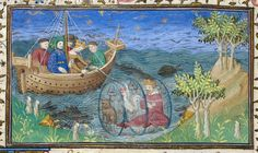 From Historia de proelis in a French translation (Le livre et le vraye hystoire du bon roy Alixandre), France, c. 1420.