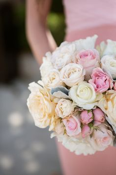 Stunning rose bouquet: http://www.stylemepretty.com/california-weddings/santa-monica/2015/09/03/romantic-santa-monica-wedding-with-pops-of-pink/ | Photography: Ryon Lockhart - http://www.ryonlockhart.com/